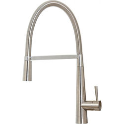 Hydra Coventry Rinser Kitchen Tap With Swivel Spout (Brushed Steel).