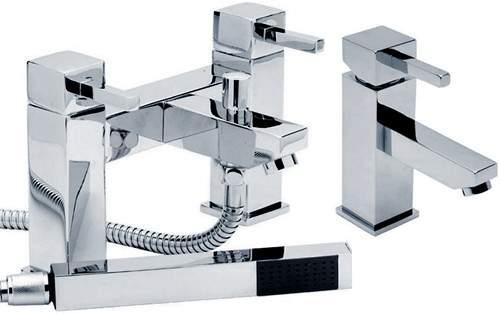 Hydra Grange Basin & Bath Shower Mixer Tap Set (Free Shower Kit).