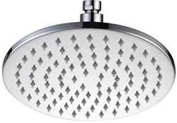 Hydra Showers Round Shower Head With Swivel Knuckle (200mm, Chrome).