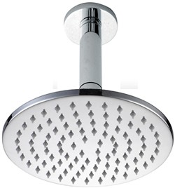 Hydra Showers Round Shower Head With Ceiling Mounting Arm (200mm).