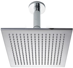 Hydra Showers 300mm Large Square Shower Head & Ceiling Mounting Arm.
