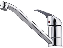 Hydra Kitchen tap with swivel spout and single lever handle.