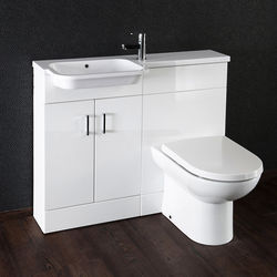Italia Furniture Ria Combi Pack With Vanity, BTW Unit & Basin (LH, Gloss White).