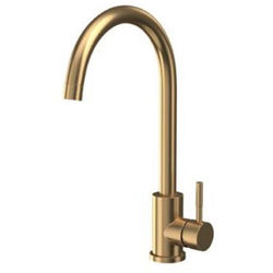 Hydra London Kitchen Tap With Swivel Spout (Brushed Brass).