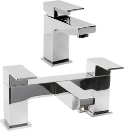 Hydra Lucca Basin & Bath Filler Tap Set (Chrome).