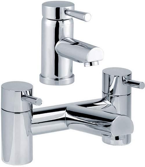 Hydra Malton Basin Mixer & Bath Filler Tap Set (Chrome).