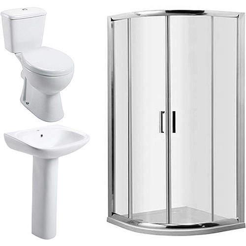 Oxford En Suite Bathroom Pack With 800mm Quadrant Enclosure & Tray (6mm).