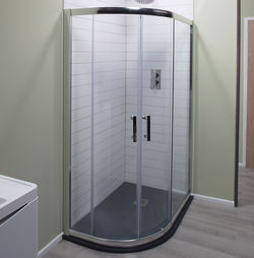 Oxford 900x760mm Offset Quadrant Shower Enclosure, 6mm Glass (LH).