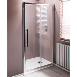 1400mm Sliding Shower Door With 8mm Thick Glass Chrome Oxford Hi