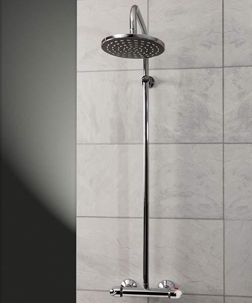 Hydra Showers Thermostatic Bar Shower Valve With Rigid Riser Kit.