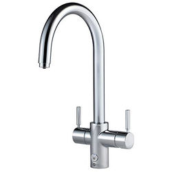 InSinkErator Hot Water 4N1 J Shape Steaming Hot Kitchen Tap (Chrome).