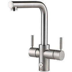 InSinkErator Hot Water 4N1 L Shape Steaming Hot Kitchen Tap (Brushed Steel).