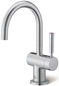 InSinkErator Hot Water Steaming Hot Filtered Kitchen Tap (Brushed Steel).