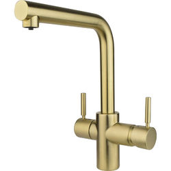 InSinkErator Hot Water Boiling Hot & Cold Water Kitchen Tap (Brushed Gold).