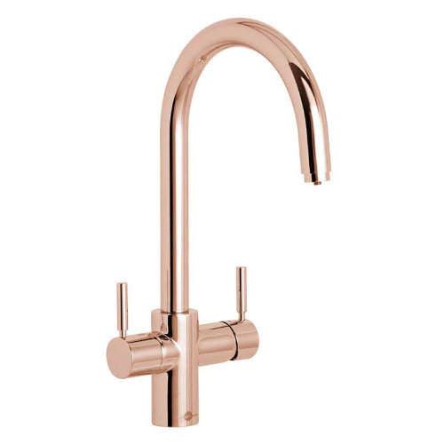 InSinkErator Hot Water 3N1 J Shape Steaming Hot Kitchen Tap (Rose Gold).