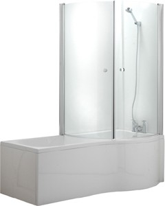 Hydra Complete Shower Bath With Screen & Door (Right Hand). 1500x750mm.
