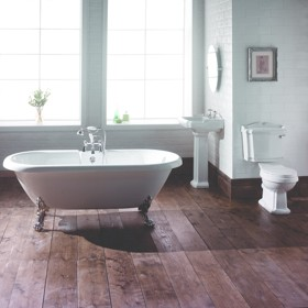 Windsor Double Ended Roll Top Bathroom Suite 1700x750mm Hydra Its Set2