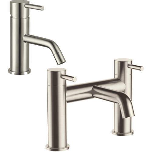 JTP Inox Basin & Bath Filler Tap Pack (Stainless Steel).