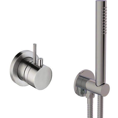 JTP Inox Thermostatic Shower Valve & Shower Kit (Stainless Steel).