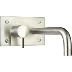 JTP Inox Wall Mounted Basin Mixer Tap (225mm, Stainless Steel).