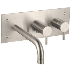 JTP Inox Wall Mounted Bath Shower Mixer Tap (Stainless Steel).