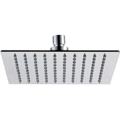 JTP Inox Slim Square Shower Head (250x250mm, Stainless Steel).