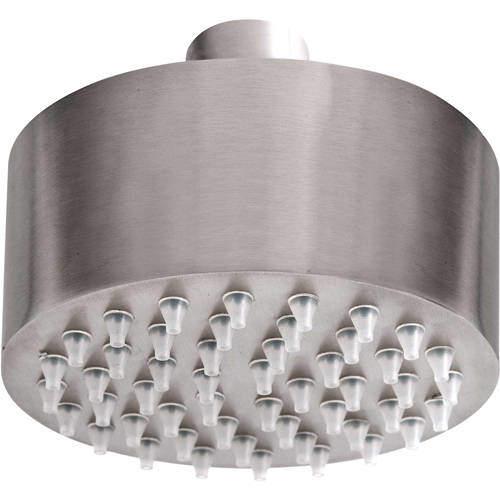 JTP Inox Small Round Shower Head (89mm, Stainless Steel).