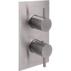JTP Inox Concealed Thermostatic Shower Valve (1 Outlet, Stainless Steel).