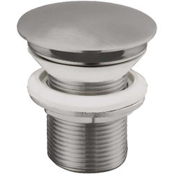 JTP Inox Click Clack Basin Waste (Unslotted, Stainless Steel).