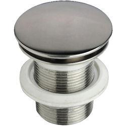 JTP Inox Freeflow Basin Waste (Unslotted, Stainless Steel).