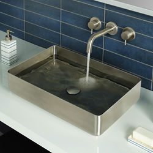JTP Inox Rectangular Counter Top Basin (520x340, Stainless Steel).