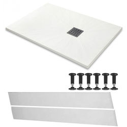 Slate Trays Rectangular Easy Plumb Shower Tray & Waste 1600x800 (White).