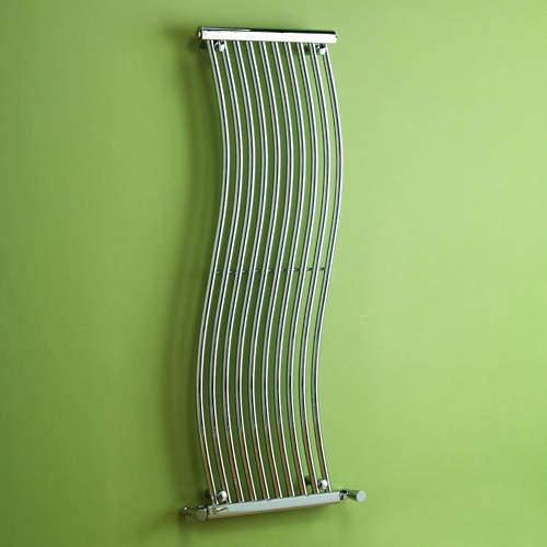 Kartell K-RAD Miami Heated Towel Rail 450W x 1400H mm (Chrome).
