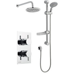 Kartell Plan Shower Valve, Slide Rail Kit With Head & Arm (Option 3).