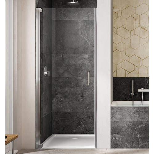 Lakes Italia Amare Semi-Frameless Pivot Shower Door (700x2000mm, LH).