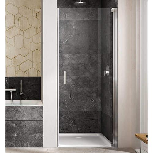 Lakes Italia Amare Semi-Frameless Pivot Shower Door (800x2000mm, RH).
