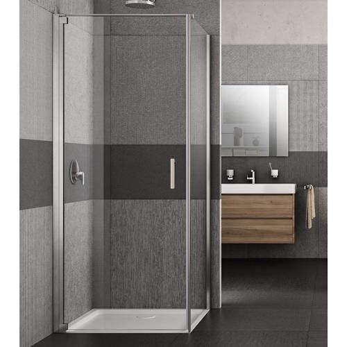 Lakes Italia Vivo Shower Enclosure With Pivot Door (900x900x2000mm, LH).