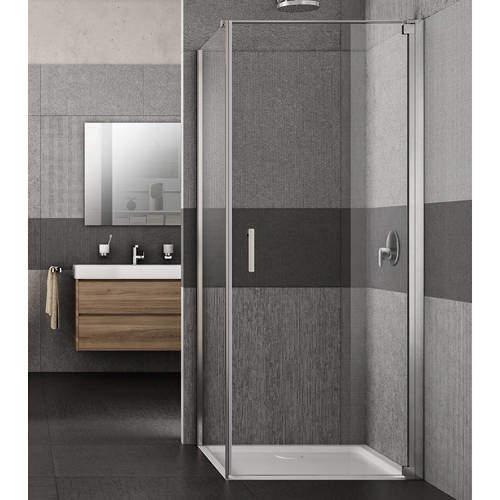 Lakes Italia Vivo Shower Enclosure With Pivot Door (900x700x2000mm, RH).