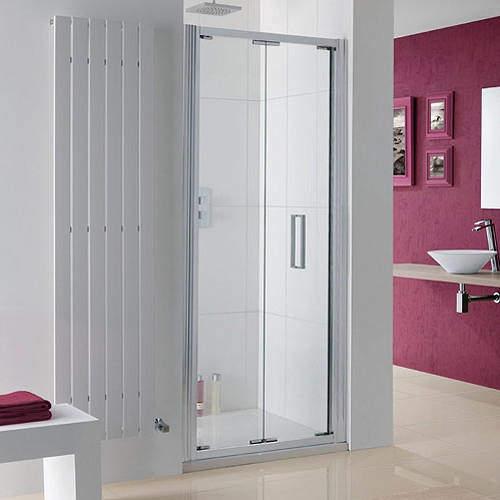 Lakes Coastline Bergen Bi-Fold Shower Door With 8mm Glass (750x2000mm).