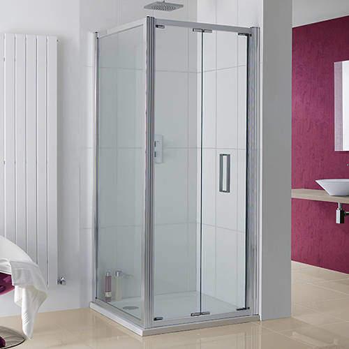 Lakes Coastline Bergen Shower Enclosure With Bi-Fold Door (800x1000x2000).