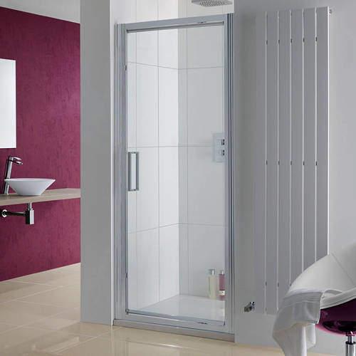 Lakes Coastline Narva Pivot Shower Door With 8mm Glass (750x2000mm).