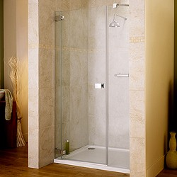 Lakes Italia 1400x1950 Hinged Shower Door & Glass Panels. Left Handed.