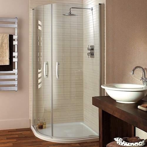 Lakes Italia Quadrant Shower Enclosure, Hinged Doors & Tray (800mm).
