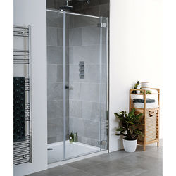 Lakes Island Cayman Frameless Hinged Shower Door & Panel (1600x2000).