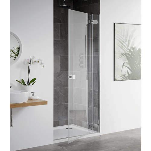Lakes Island Barbados Frameless Hinged Shower Door (1000x2000mm).