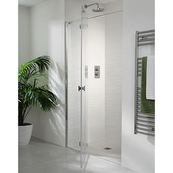 Lakes Island Martinique Frameless Hinged Shower Door & Panel (1600x2000).
