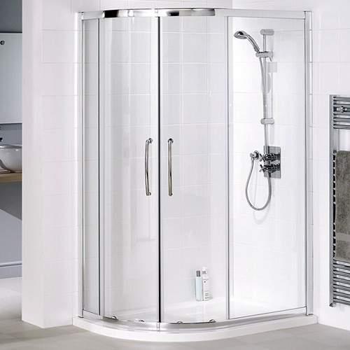 Lakes Classic Left Hand 1000x800 Offset Quadrant Shower Enclosure & Tray.