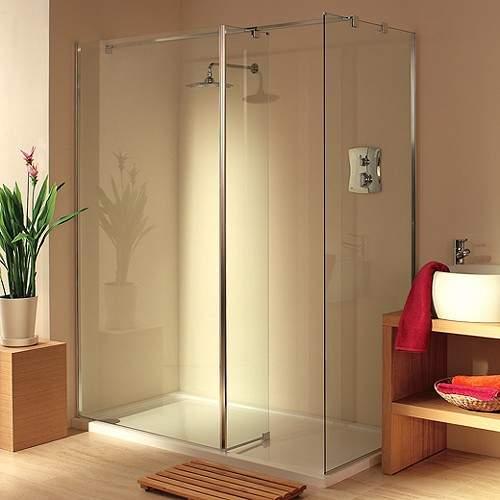 Lakes Italia Frameless Walk In Shower Enclosure. Left Handed. 1600x750mm.