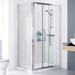 Lakes Classic 1100x750 Shower Enclosure, Slider Door & Tray (Left Handed).