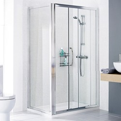 Lakes Classic 1700x750 Shower Enclosure, Slider Door & Tray (Left Handed).